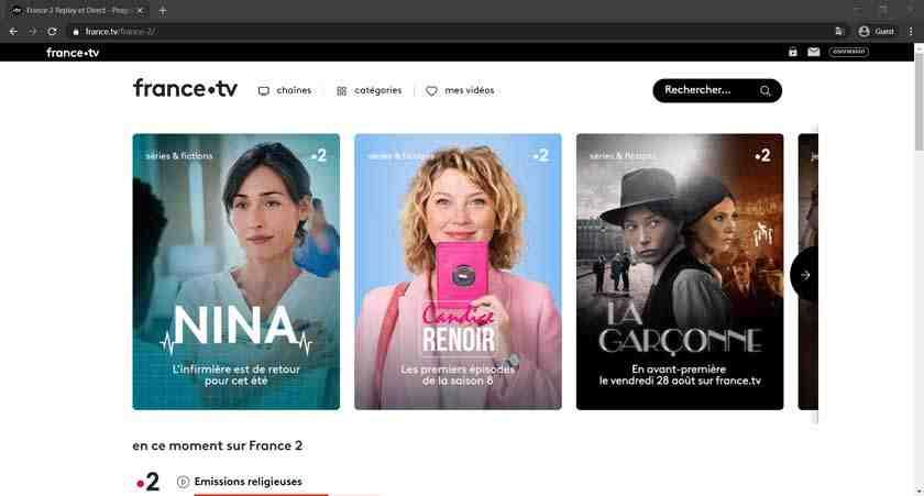 Comment regarder France 2 en direct?